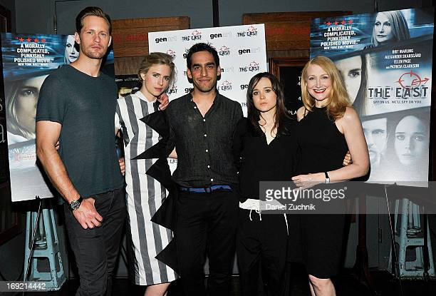 Alexander Skarsgard Brit Marling Zal Batmanglij Ellen Page and Patricia Clarkson attend 'The East' Brooklyn Screening at The Nitehawk Cinema on May...