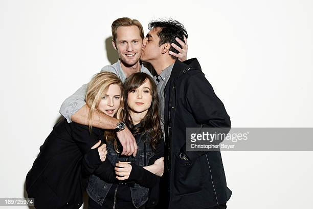 Alexander Skarsgard Ellen Page Brit Marling Zal Batmanglij are photographed for Entertainment Weekly Magazine on January 20 2013 in Park City Utah