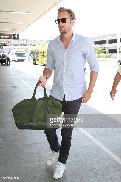 Alexander Skarsgard is seen at LAX on July 29 2015 in Los Angeles California