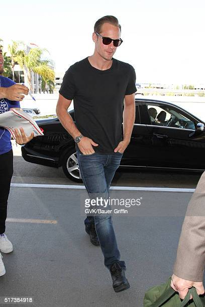Alexander Skarsgard is seen at LAX on March 24 2016 in Los Angeles California