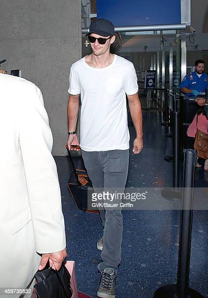 Alexander Skarsgard is seen at Los Angeles International Airport on June 12 2012 in Los Angeles California