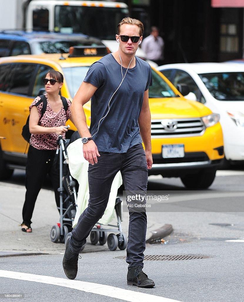 Alexander Skarsgard is seen in Soho on September 13 2013 in New York City