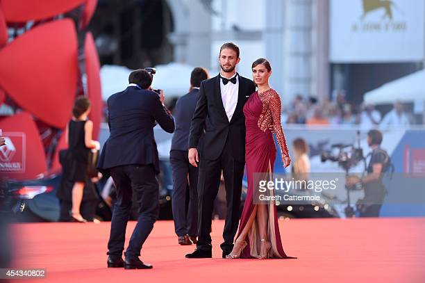 Alexander Smurfit and Victoria Bonya attend the '99 Homes' Premiere during the 71st Venice Film Festival on August 29 2014 in Venice Italy