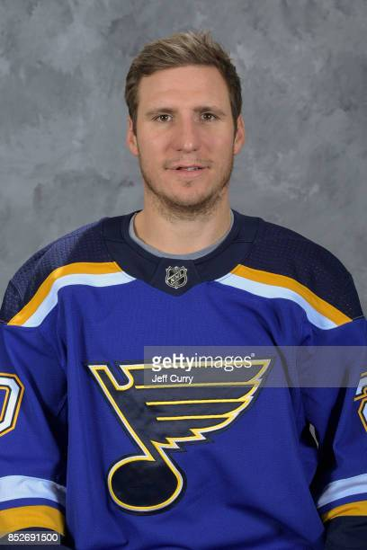 Alexander Steen of the St Louis Blues poses for his official headshot for the 20172018 season on September 14 2017 in St Louis Missouri