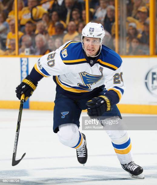 Alexander Steen of the St Louis Blues skates against the Nashville Predators in Game Four of the Western Conference Second Round during the 2017 NHL...
