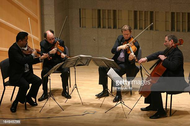 Alexander String Quartet performing the music of Dmitri Shostakovich at Baruch Performing Arts Center on Monday night May 1 2006They are from left...