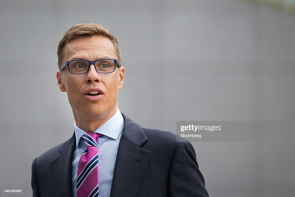 <a gi-track='captionPersonalityLinkClicked' href=/galleries/search?phrase=Alexander+Stubb&family=editorial&specificpeople=2157393 ng-click='$event.stopPropagation()'>Alexander Stubb</a>, Finland's finance minister, arrives for a meeting of European finance ministers in Brussels, Belgium, on Sunday, July 12, 2015. European finance chiefs said they were unlikely to strike a deal on the outlines of a third Greek bailout, threatening to delay the cash infusion Prime Minister Alexis Tsipras desperately needs. Photographer: Jasper Juinen/Bloomberg via Getty Images