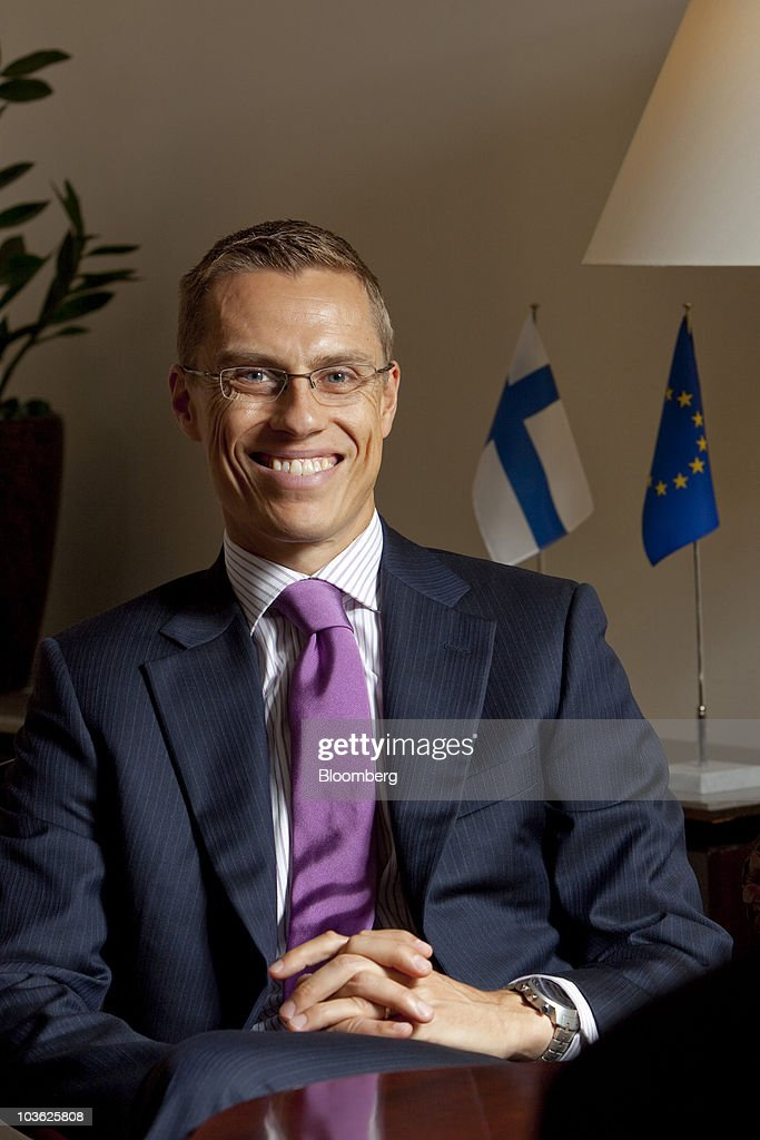 <a gi-track='captionPersonalityLinkClicked' href=/galleries/search?phrase=Alexander+Stubb&family=editorial&specificpeople=2157393 ng-click='$event.stopPropagation()'>Alexander Stubb</a>, Finland's foreign minister, poses for a photograph at his office in Helsinki, Finland, on Wednesday, Aug. 25, 2010. A decline in Finnish unemployment eases pressure on Prime Minister Mari Kiviniemi's cabinet, which last week presented its 50.3 billion-euro ($63.6billion) budget proposal for next year. Photographer: Henrik Kettunen
