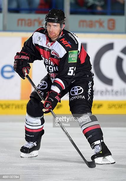 Alexander Sulzer of Koelner Haie in action during the action shot on august 15 2014 in Iserlohn Germany