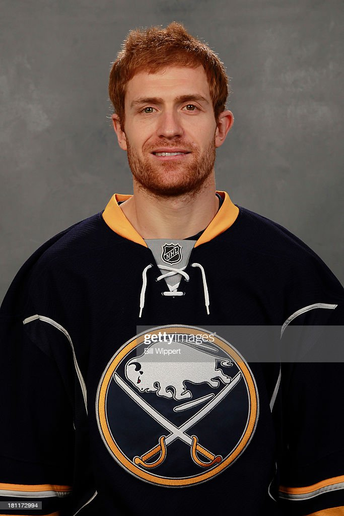 <a gi-track='captionPersonalityLinkClicked' href=/galleries/search?phrase=Alexander+Sulzer&family=editorial&specificpeople=673531 ng-click='$event.stopPropagation()'>Alexander Sulzer</a> of the Buffalo Sabres poses for his official headshot for the 2013-2014 season on September 11, 2013 at the First Niagara Center in Buffalo, New York.