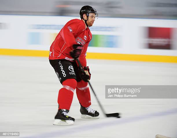Alexander Sulzer of the Koelner Haien during training on January 9 2015 in Duesseldorf Germany