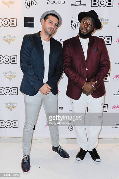 Alexander Tamargo and Bob Metelus attend the Haitian photographer Bob Metelus unveils newest collection Haiti A Collective Cry from a Forgotten...