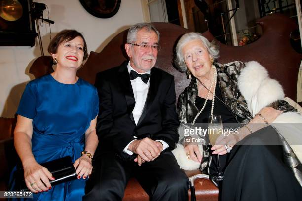 Alexander van der Bellen president of Austria with his wife Doris Schmidauer and Fuerstin 'Manni' Marianne SaynWittgensteinSayn during the...
