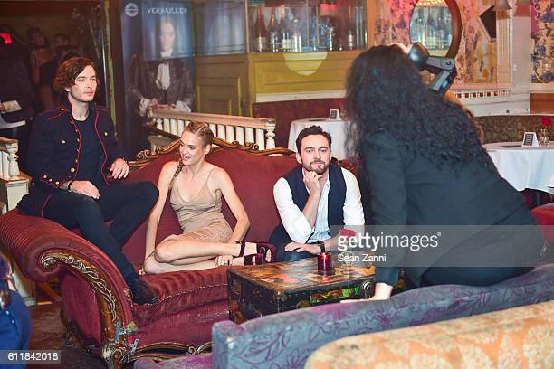Alexander Vlahos Noemie Schmidt and George Blagden attend Ovation TV Celebrates the October 1st Premiere of the HighlyAnticipated Drama Versailles at...