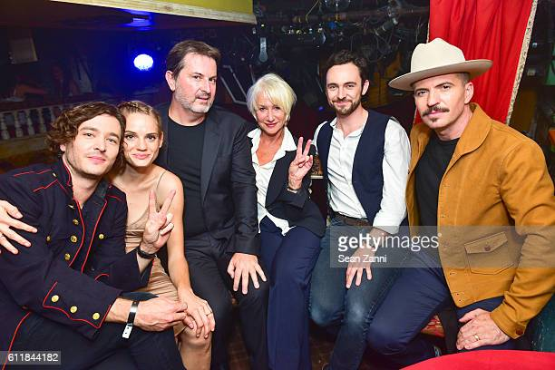 Alexander Vlahos Noemie Schmidt David Wolstencroft Helen Mirren George Blagden and Tygh Runyan attend Ovation TV Celebrates the October 1st Premiere...