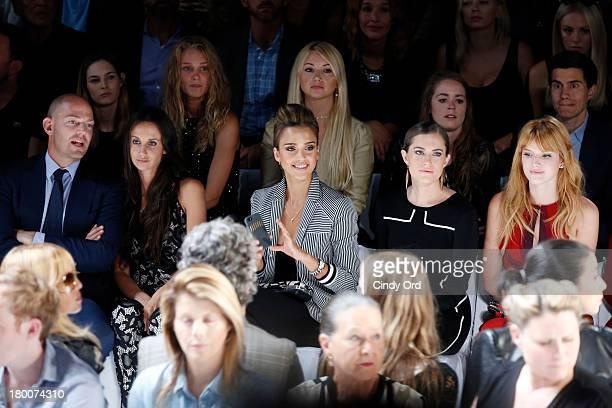 Alexander von Furstenberg Ali Kay Jessica Alba Allison Williams and Bella Thorne attend the Diane Von Furstenberg fashion show during MercedesBenz...