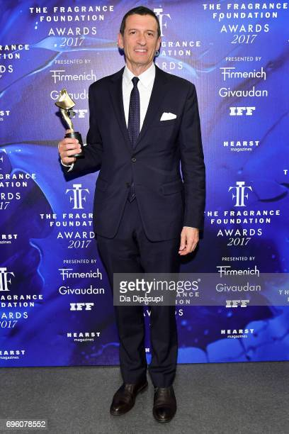 Alexander Vreeland poses backstage at the 2017 Fragrance Foundation Awards Presented By Hearst Magazines at Alice Tully Hall on June 14 2017 in New...