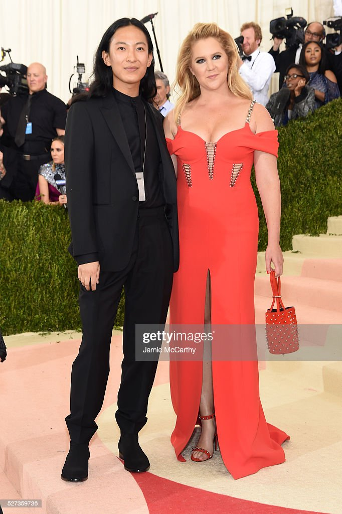 Alexander Wang and Amy Schumer attend the 'Manus x Machina Fashion In An Age Of Technology' Costume Institute Gala at Metropolitan Museum of Art on...