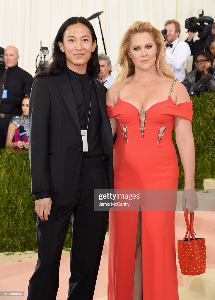 Alexander Wang (L) and Amy Schumer attend the 'Manus x Machina: Fashion In An Age Of Technology' Costume Institute Gala at Metropolitan Museum of Art on May 2, 2016 in New York City.