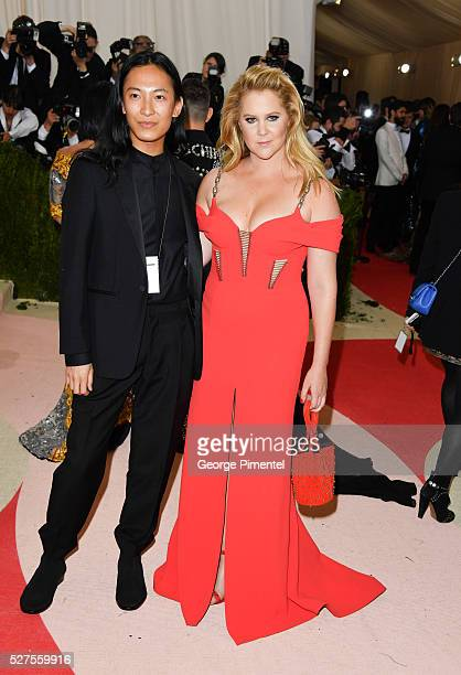 Alexander Wang and Amy Schumer attend the 'Manus x Machina Fashion in an Age of Technology' Costume Institute Gala at the Metropolitan Museum of Art...