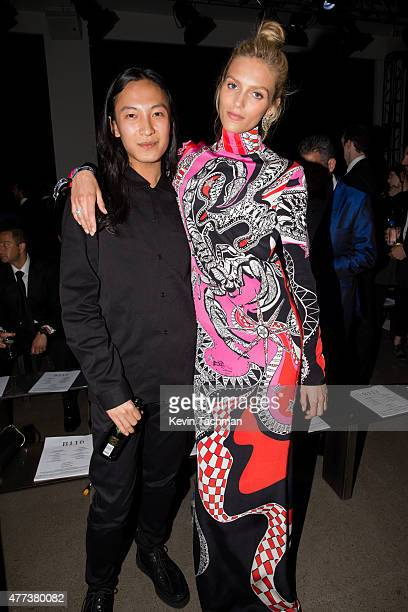 Alexander Wang and Anja Rubik attend the 2015 amfAR Inspiration Gala New York at Spring Studios on June 16 2015 in New York City
