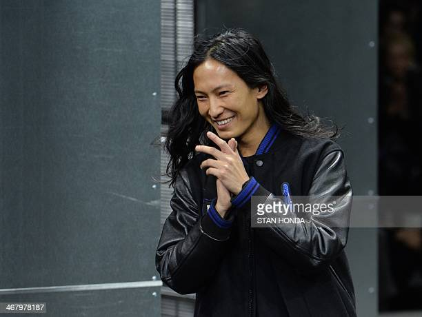 Alexander Wang on the runway during the Mercedes Benz Fall/Winter 2014 Fashion Shows February 8 2014 in New York AFP PHOTO/Stan HONDA