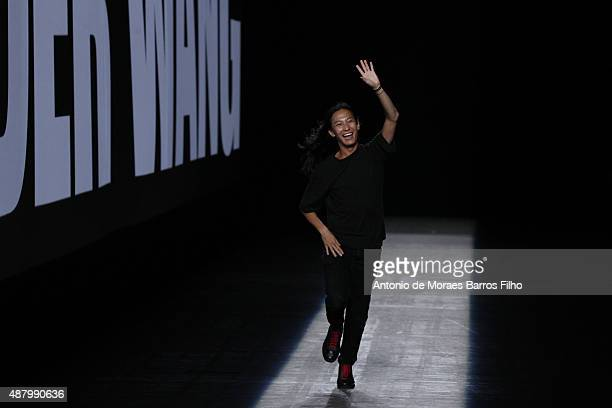 Alexander Wang walks the runway during the Alexander Wang show as a part of Spring 2016 New York Fashion Week at Pier 94 on September 12 2015 in New...