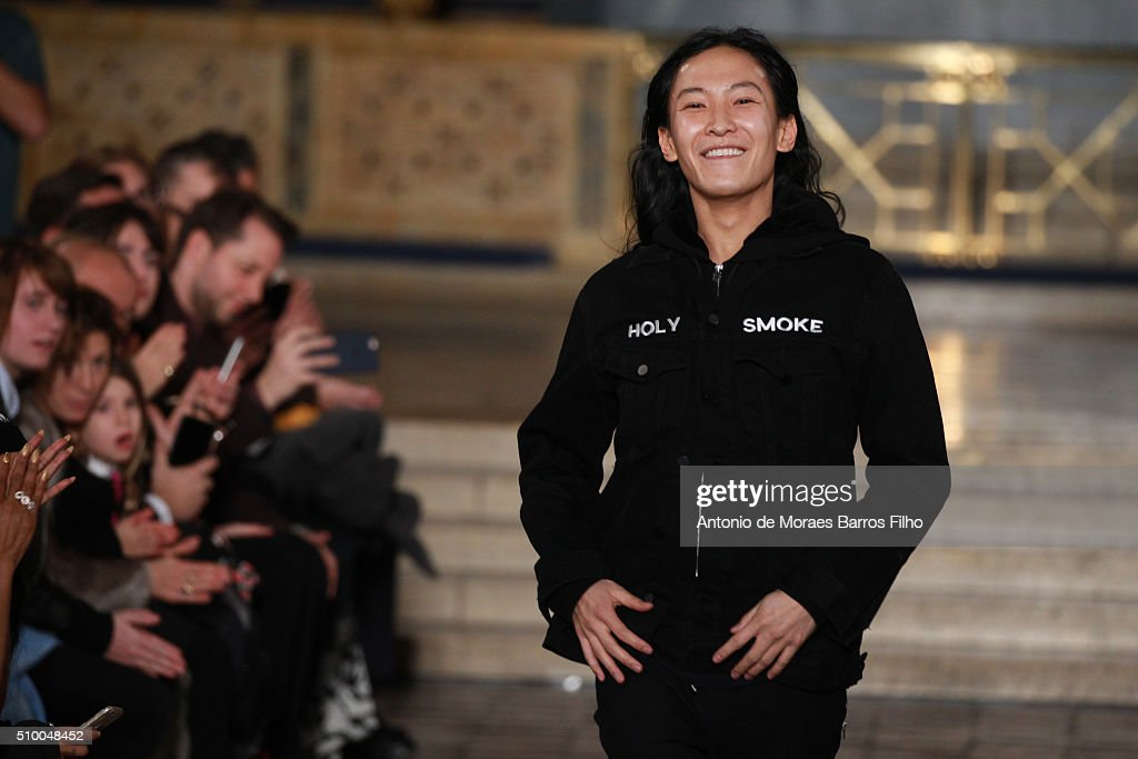 Alexander Wang walks the runway during the Alexander Wang show as a part of Fall 2016 New York Fashion Week at St. Bartholomew's Church on February 13, 2016 in New York City.