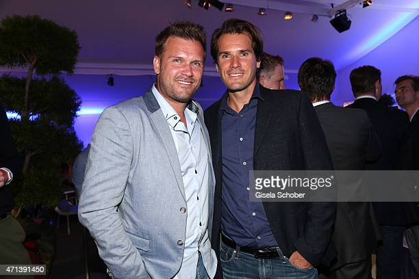 Alexander Waske Tommy Haas during the '100 Jahre Internationale Tennismeisterschaften von Bayern' Gala Evening on April 27 2015 in Munich Germany