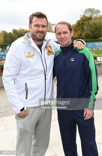 Alexander Waske und Rainer Schuettler attends the 'Golden RacketCharity2015Tournament' on October 17 2015 in Munich Germany