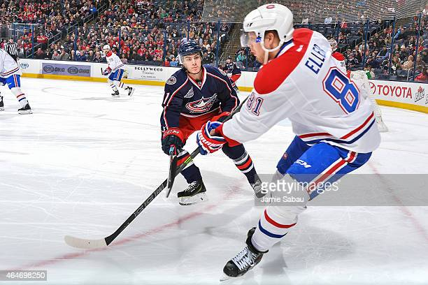 Alexander Wennberg of the Columbus Blue Jackets skates against the Montreal Canadiens on February 26 2015 at Nationwide Arena in Columbus Ohio
