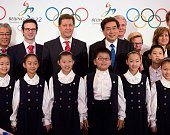Alexander Zhukov head of the 2022 Evaluation Commission for the International Olympic Committee and Beijing Communist Party Secretary Guo Jinlong...