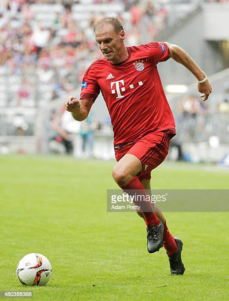 Alexander Zickler of FC Bayern Allstars in action during the FC Bayern Allstars vs the Inter Forever friendly match during the FC Bayern Muenchen...