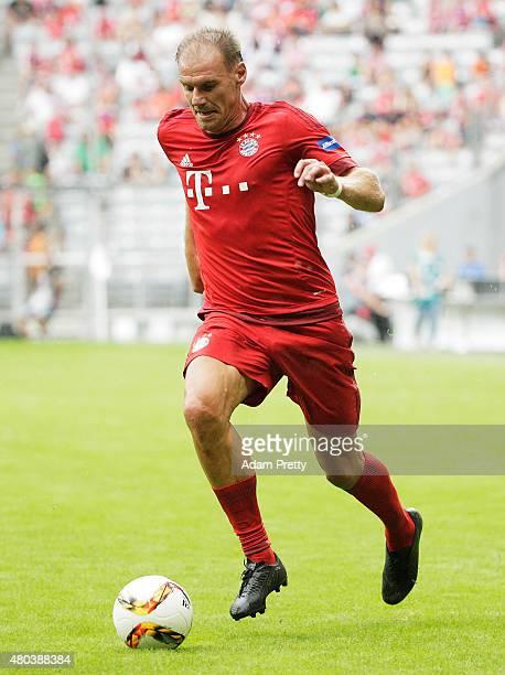 Alexander Zickler of FC Bayern Allstars in action during the FC Bayern Allstars vs the Inter Forever friendly match during the FC Bayern Muenchen...