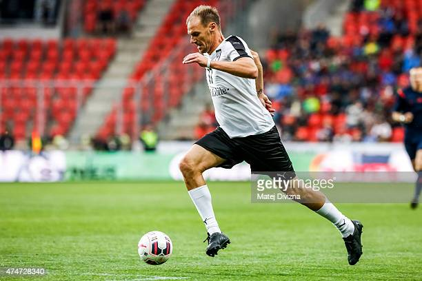 Alexander Zickler of Germany in action during legends match between Czech Republic and Germany at Eden Stadium on May 25 2015 in Prague Czech Republic