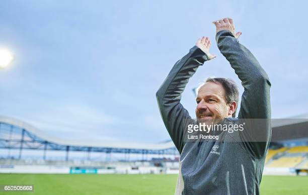 Alexander Zorniger head coach of Brondby IF celebrates after the Danish Alka Superliga match between AC Horsens and Brondby IF at Casa Arena Horsens...