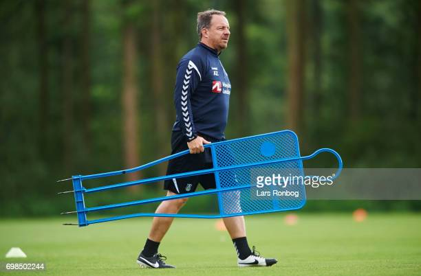 Alexander Zorniger head coach of Brondby IF in action during the Brondby IF training session at Brondby Stadion on June 20 2017 in Brondby Denmark