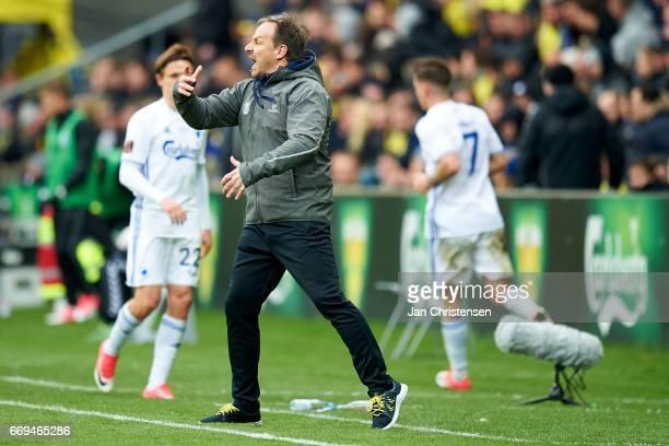 Alexander Zorniger head coach of Brondby IF in action during the Danish Alka Superliga match between Brondby IF and FC Midtjylland at Brondby Stadion...