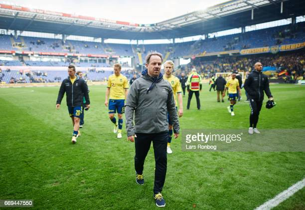 Alexander Zorniger head coach of Brondby IF leaving the pitch after the Danish Alka Superliga match between Brondby IF and FC Copenhagen at Brondby...