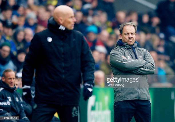 Alexander Zorniger head coach of Brondby IF looks on during the Danish Alka Superliga match between Brondby IF and FC Copenhagen at Brondby Stadion...