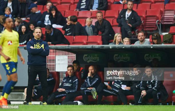Alexander Zorniger head coach of Brondby IF looks on during the Danish Alka Superliga match between FC Copenhagen and Brondby IF at Telia Parken...