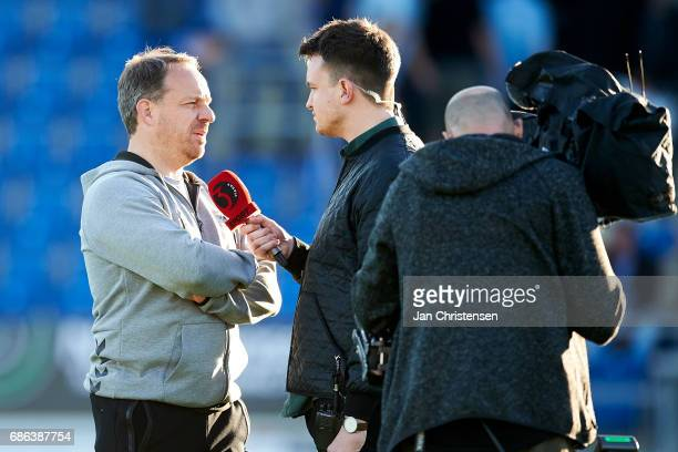 Alexander Zorniger head coach of Brondby IF talk to the media after the Danish Alka Superliga match between SonderjyskE and Brondby IF at Sydbank...