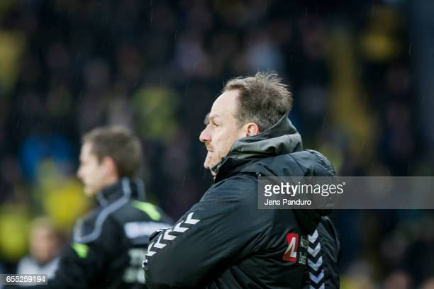 Alexander Zorniger head coach of Brondby IF the Danish Alka Superliga match between Brondby IF and Lyngby BK at Brondby Stadion on March 19 2017 in...