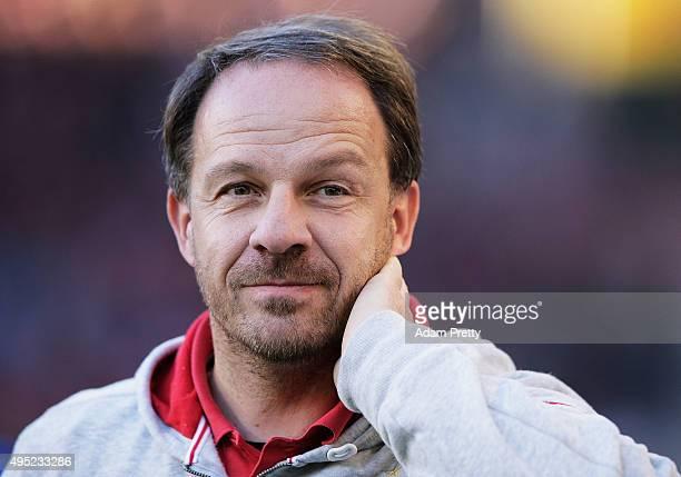 Alexander Zorniger head coach of VfB Stuttgardt before the Bundesliga match between VfB Stuttgart and SV Darmstadt at MercedesBenz Arena on November...