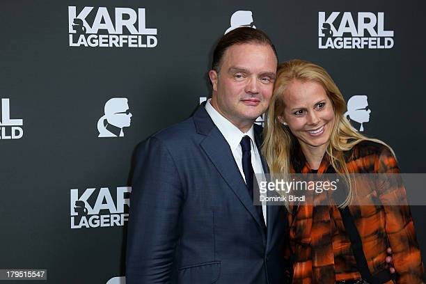 Alexander zu Schaumburg Lippe and Nadja Anna zu Schaumburg Lippe attend the Karl Lagerfeld store opening on September 4 2013 in Munich Germany