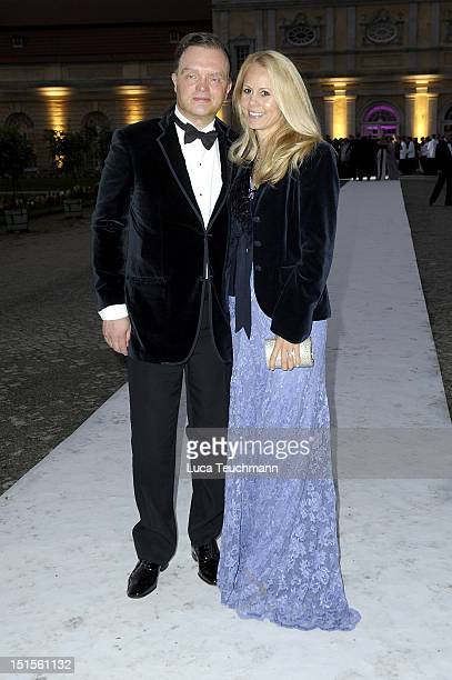 Alexander zu SchaumburgLippe and Nadja Anna zu SchaumburgLippe arrive for the wedding party at at Charlottenburg Palace on September 8 2012 in...