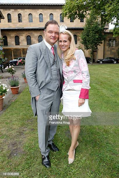 Alexander zu SchaumburgLippe and Nadja Anna zu SchaumburgLippe attend the Church Wedding of Florian Langenscheidt and Miriam Langenscheidt at...