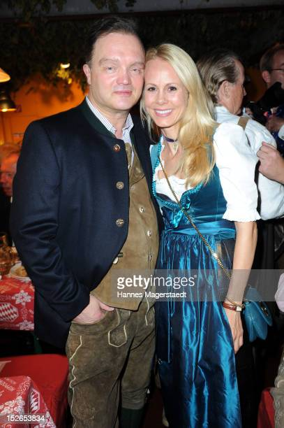 Alexander zu SchaumburgLippe and Nadja Anna zu SchaumburgLippe attend the Oktoberfest beer festival at Hippodrom on September 23 2012 in Munich...
