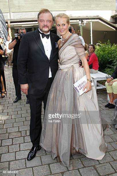 Alexander zu SchaumburgLippe and Nadja Anna zu SchaumburgLippe attend the Bayreuth Festival 2015 Opening on July 25 2015 in Bayreuth Germany