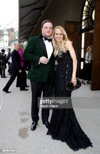 Alexander zu SchaumburgLippe and wife Nadja attend the opening premiere 'Goetterdaemmerung' during the Salzburg Easter Festival on March 27 2010 in...
